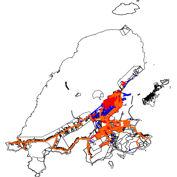 carte du réseau d'assainissement sur la commune de Saint-Pierre